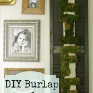 Burlap and Moss Wall Hanging