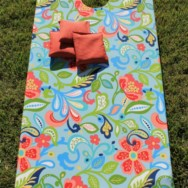 Fabric Covered Corn Hole