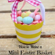 How to Make a Mini Easter Basket out of a Cupcake Liner