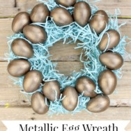Metallic Egg Wreath
