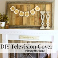 Welcome Fall Home Tours – Day 3 and a DIY TV Cover