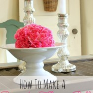 How to Make a Flower Covered Pomander Ball