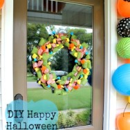 Ribbon Halloween Wreath