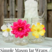 Mason Jar Craft Flower Wraps