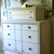 Chalk Painted Antique Dresser