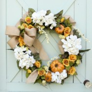 How to Make a Fall Wreath with Pumpkins