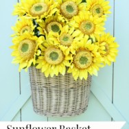 Basket of Sunflowers